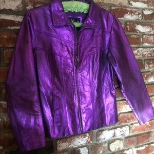Purple Rain ! Wilson's MAXIMA  leather jacket . S